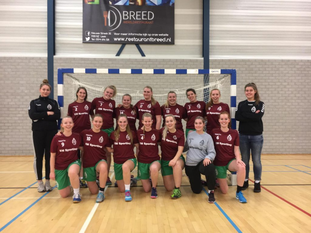 Teamfoto dames midweek